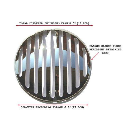 175MM Prison Grill Insert Chrome