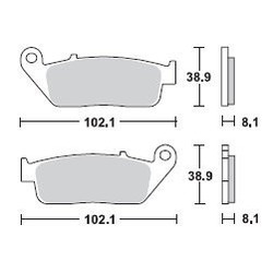 Brake Pad Set MCB598SV