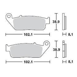 Bremsbelagsatz MCB598SV