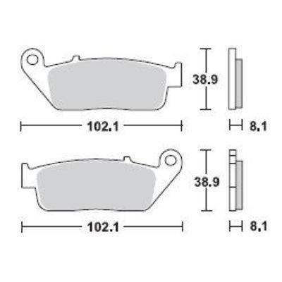 TRW Brake Pad Set MCB598SV