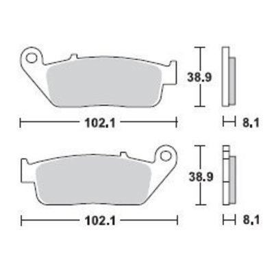 TRW Bremsbelagsatz MCB598SV