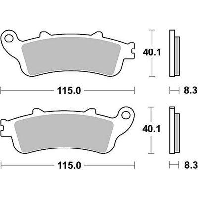TRW Brake Pad Set MCB705SH