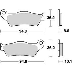 Bremsbelagsatz MCB707SH