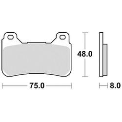 Bremsbelagsatz MCB755SV