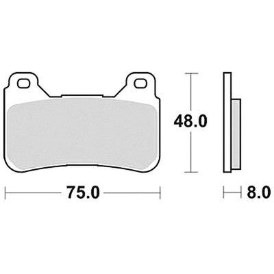 TRW Brake Pad Set MCB755SV