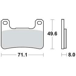Bremsbelagsatz MCB752SV