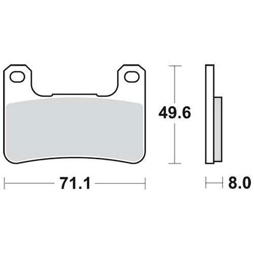 TRW Bremsbelagsatz MCB752SV