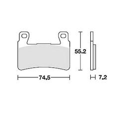 Brake Pad Set MCB703SV