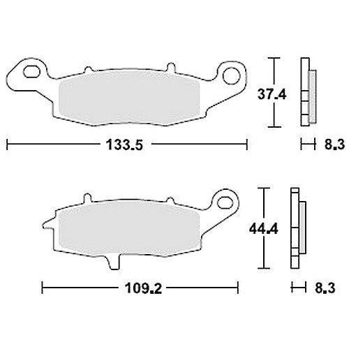 TRW Bremsbelagsatz MCB681SV
