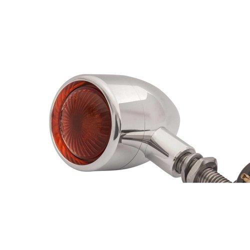 Motone 4x Polished Aluminium Bullet Knipperlichten
