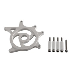 Custom Kettenradabdeckung - Silber