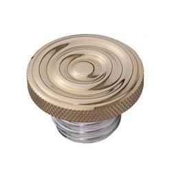 Custom Kraftstoff-Gas-Kappe - Messing gewellte Oberseite - Aluminiumgewinde - gewellt