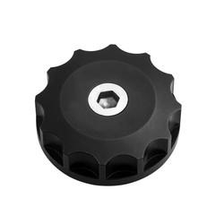 Motorölverschlussdeckel - Billet - Schwarz