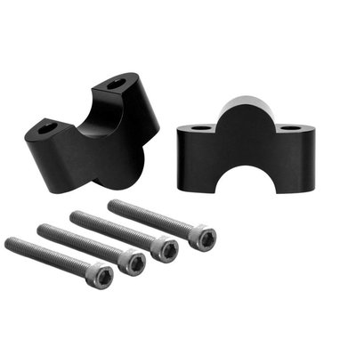 Motone Handlebar Riser Inserts - One Inch Rise - For One Inch Bars - Black