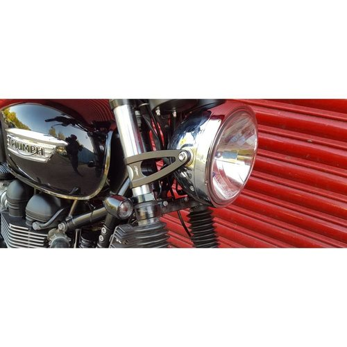 Motone Custom Koplamp Steunen 41mm Zwart