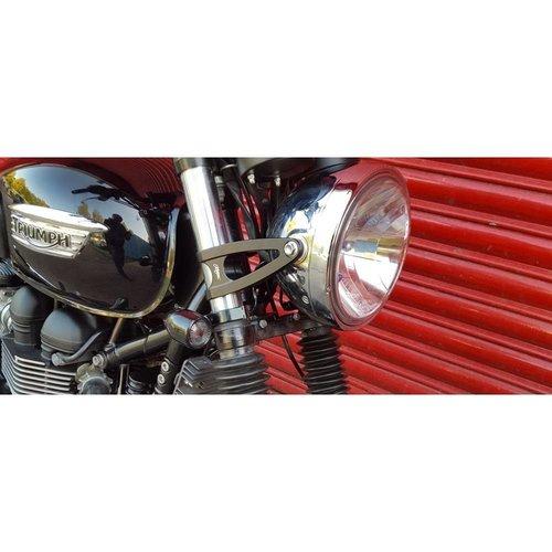 Motone Custom Scheinwerferhalter 41mm - Schwarz