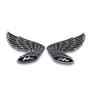 Motone Honda Wings HM Fuel Tank/Side Panel Emblem - Pair - Billet