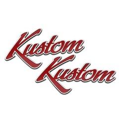 Kustom Hot Rod Motorrad Kraftstofftank / Seitenteil Emblem Set - Billet - Paar