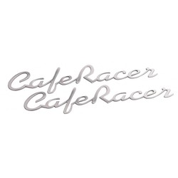 Cafe Racer - Benzintank / Seitenwand Emblem Set - Poliert - Paar -