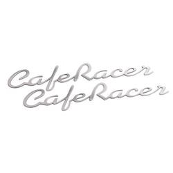 Cafer Racer - Petrol Tank / Side Panel Emblem Set - Polish - Pair
