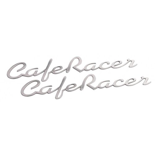 Motone Cafe Racer - Benzintank / Seitenwand Emblem Set - Poliert - Paar -