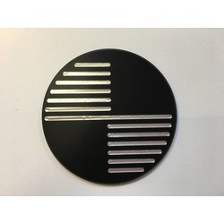 Handmade BMW 70MM Emblems Black Type 1