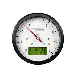 Compte-tours Motoscope Classic 8.000 tr/min - anodisé en noir