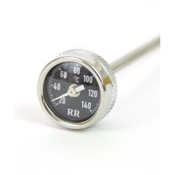 Oil temperature dipstick long, 285mm length, for R2V models with long oil-dipstick Black dial