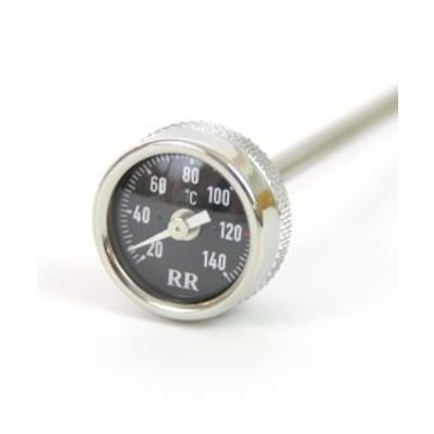 Siebenrock Oil temperature dipstick long, 285mm length, for R2V models with long oil-dipstick Black dial