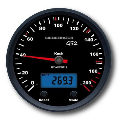 Siebenrock Speedometer GS2 for R 80 G/ S R 80 / 100 GS up to 9/90, R 80 GS Basic ''Plug and Play'' MPH Version