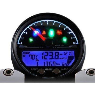Acewell 4453 Speedo met zwarte behuizing 12.000 RPM