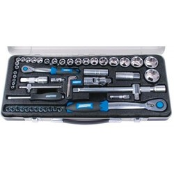 Socket set Premium 55 pieces 1/4+1/2