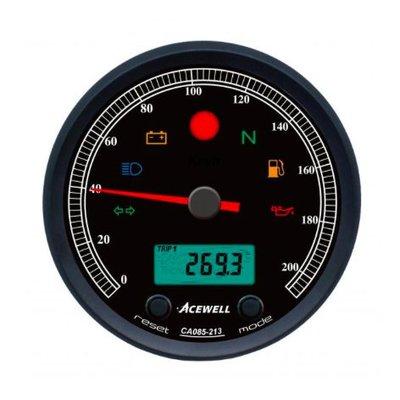 Acewell CA085 210 KM/H Teller Zwarte Behuizing en Zwarte Wijzerplaat