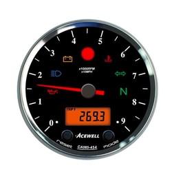 CA085 12.000RPM Speedo Black / Black