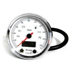 CA085 210 KM/H Speedo White/Chrome
