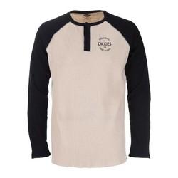 Gridley Raglan Waffel-Shirt - Schwarz