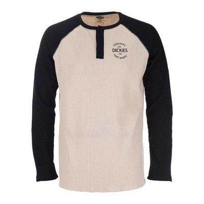 Dickies Gridley Raglan Waffel-Shirt - Schwarz