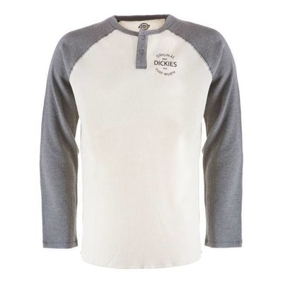 Dickies Gridley Raglan Waffel-Shirt - Dark Grey Melange