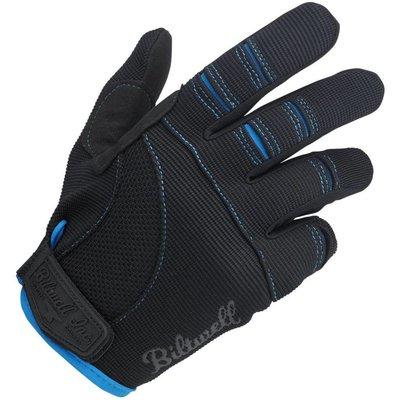 Biltwell Moto Gloves - Black/Blue