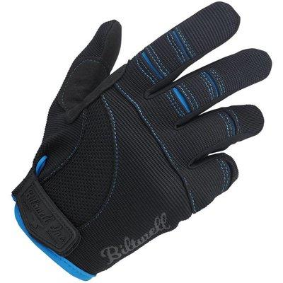 Biltwell Moto Handschuhe - Schwarz / Blau