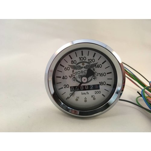60MM Chrom Tacho 220 km/h + 4 Funktions