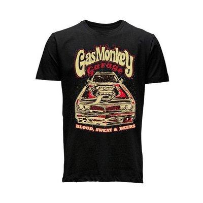 Gas Monkey Muscle Car Shirt Schwarz