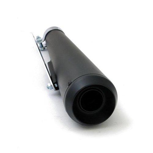 Cafe Racer Megaphone Open Black Demper