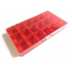 Boîte de rangement avec 18 compartiments - 27x15x3,8CM