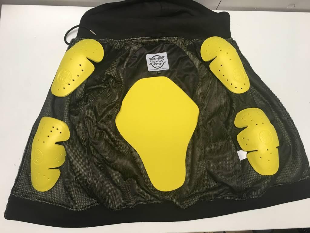 MCU Kevlar Hoodie + 5 Protectors - Black - Motorcycles United