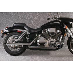 Honda VTX 1800 Exhaust Drag Pipes Slash Cut