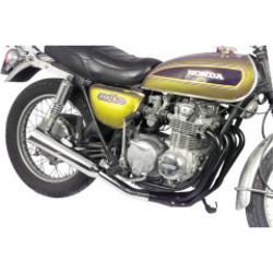 Honda CB 500/550 4-in-1 uitlaat megafoon zwart / chroom