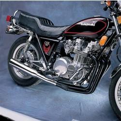 Kawasaki GS 400/425/450 2-in-1 auspuffanlage Megaphone Schwarz/Chroom