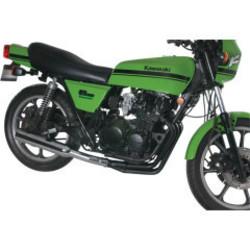 Kawasaki KZ550 Système d'échappement Megaphone 4-en-1 noir/chrome