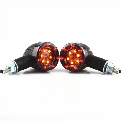 Basic Bullet Tail Lights And Indicator Lights Combination - Black